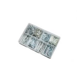 600pce M1.6-M5  Split Pin Assortment. Bright Zinc Plated. Kitmaster KM105140