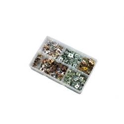 300pce 6-14g J & U Nut Kit. Bright Zinc Plated and Zinc. Kitmaster KM105109