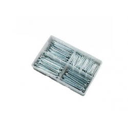 220pce 1/8-5/16 Split Pins Kit. Bright Zinc Plated. Kitmaster KM105137