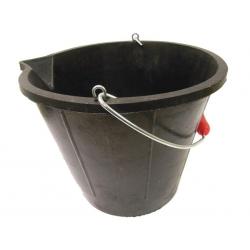 Black Tyre Rubber Bucket 14 Litre