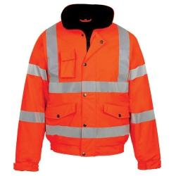 Large Hi-vis Bomber Jacket Orange