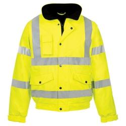 Large Hi-Vis Bomber Jacket Yellow