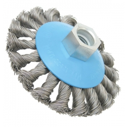"""100mm x M14 HSS Knotted Wire Wheel (suits 115mm 4 1/2"""" Grinders upwards) P/No. 2 608 622 011"""