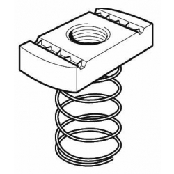 M6 Long Spring Channel Nut, Steel Galvanised, Tapped Oversize. Unistrut compatible