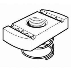 M8 Short Spring Channel Nut, Steel Galvanised, Tapped Oversize. Unistrut compatible