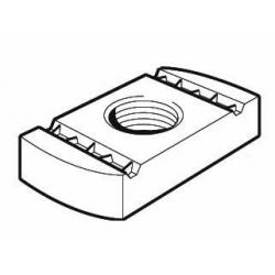 M8 No Spring Channel Nut, Steel Galvanised, Tapped Oversize. Unistrut compatible PN080G