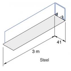 Metal / Steel SC953 / P1184-F  Channel Closure / Cover Strip 3 Metre