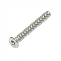 M5 x 60 Machine Screw, Countersunk Pozi No.2 Stainless Steel A2 (304)