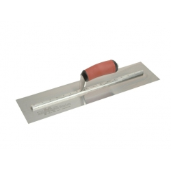 """Marshalltown 18"""" Stainless Steel Cement Float, Red Durasoft Handle - MXS77DSS"""