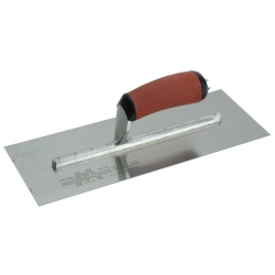 """Marshalltown 14"""" Stainless Steel Cement Float, Red Durasoft Handle - MXS73DSS"""