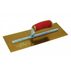"""Marshalltown 14"""" x 5"""" Gold Stainless Steel Plasterers Float - MPB14GSD"""