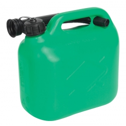 Green 5 Litre Plastic Fuel Can with Pouring Spout