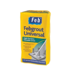 Febgrout Universal Non-Shrink High Performance Structural Grout. One 25KG bag yields 13 Litres of grout