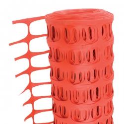 1 Metre x 50 Metre Orange Temporary Plastic Barrier Fencing Mesh