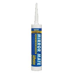 Everbuild Mirror Mate Sealant and Adhesive, White 310ml
