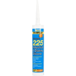 Everbuild 225 Mid Mod Silicone Sealant Brushed Steel 310ml