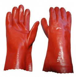 PVC Red Gauntlets 350mm Size XL (1 Pair)