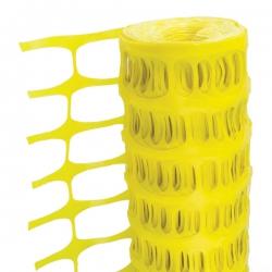 1 Metre x 50 Metre Yellow Temporary Plastic Barrier Fencing Mesh