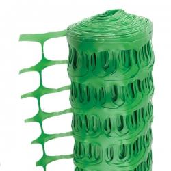 1 Metre x 50 Metre Green Temporary Plastic Barrier Fencing Mesh