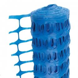1 Metre x 50 Metre Blue Temporary Plastic Barrier Fencing Mesh