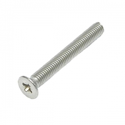 M5 x 100 Machine Screw, Countersunk Pozi No.2 Stainless Steel A2 (304)