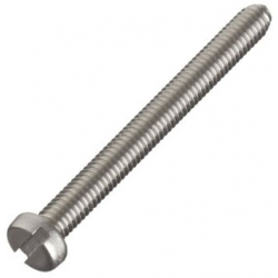 M5 x 10 Machine Screw, Cheese Slot Head Stainless Steel A2 (304) DIN 84