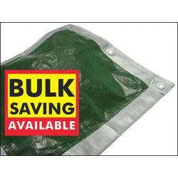 12ft x 9ft Tarpaulin, Reversible Sliver/Green Woven Polyethylene