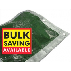 18ft x 12ft Tarpaulin, Reversible Sliver/Green Woven Polyethylene