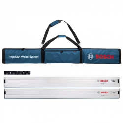Bosch FSN 4 Piece Plunge Saw Guide Rail Kit (2 x 1600mm Guide Rails, VEL Connector & Carry Bag) 0615990EE8