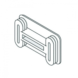Black Unistrut P3/4240 Plastic End Caps 21mm x 41mm Shallow Channel