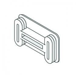 Unistrut P3/4240 Plastic End Caps White 21mm x 41mm Shallow Channel