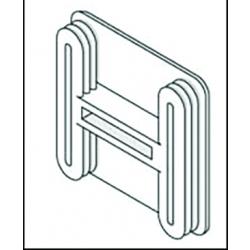 Unistrut P1/2240 Plastic End Caps White 41mm x 41mm Deep Channel