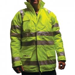 Small Yellow Hi-Vis Parka Jacket - Superior Premium High Quality EN 343/471, Lyngsoe Microflex LR28-53