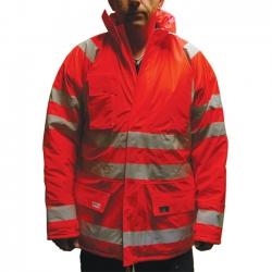 Small Orange Hi-Vis Parka Jacket - Superior Premium High Quality EN 343/471, Lyngsoe Microflex LR28-05
