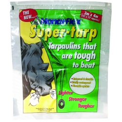4 Metre x 3 Metre Green Monarflex Super-Tarp Super Quality Tarpaulin