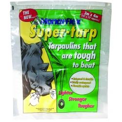 4 Metre x 6 Metre Green Monarflex Super-Tarp Super Quality Tarpaulin