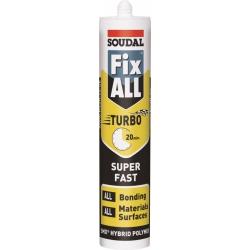 Soudal Fix All Turbo High Tack Sealant / Adhesive - White 290ml