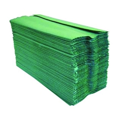 Green Paper Hand Towels, 2 Ply C Fold, 230mm x 95mm (Case of 2688)