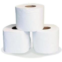 White Toilet Rolls 300 Sheet 2 Ply (Pack of 36 Rolls)