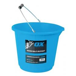 Ox Tools 15 Litre Tough Bucket Blue, High Rubber Content