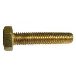 M4 x 40 Brass Hexagon Head Set Screws, DIN 933