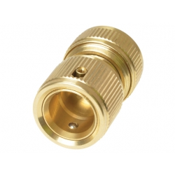 "Rehau 1/2"" Brass Tap Water Stop Connector"