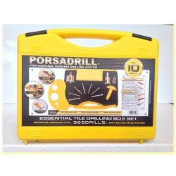 Porsadrill Professional Diamond Drilling System, The Essential 10 Tile Drills Starter Kit