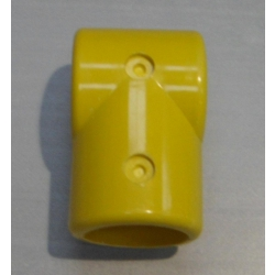 Yellow 3 Way Tee Connector (In two halves) MH3WY