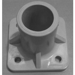 Grey Round Hole Base Foot (Single piece) MHBFG