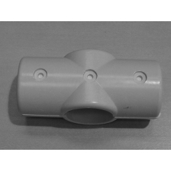 Grey 4 Way Cross Connector (In two halves) MH4WG