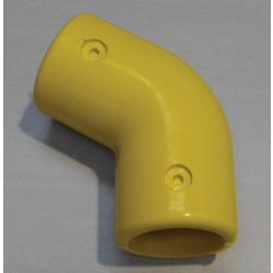Yellow 120 Degree Right Angle Bend (In two halves) MHA120EY