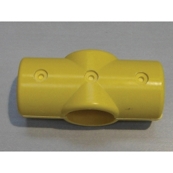 Yellow 4 Way Cross Connector (In two halves) MH4WY