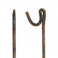 "1.2 Metre (1200mm) x 5/8"" Heavy Duty Barrier Fencing Steel Self Colour Pins"