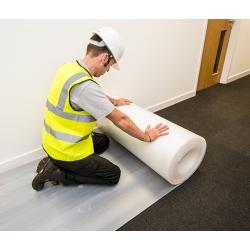 Floor Protection Flame Retardant White Corrugated Board 50 Metre x 1 Metre x 2mm